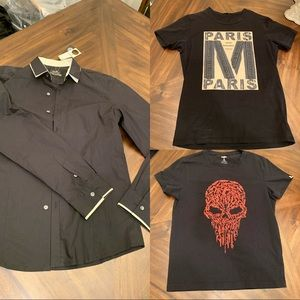 Other - Brand new long black sleeve Shirt with two T-shirt
